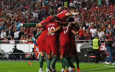 La selección de Portugal logró su pase directo al Mundial...