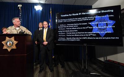 El sheriff de Las Vegas, Joseph Lombardo, revela la línea de tiem...