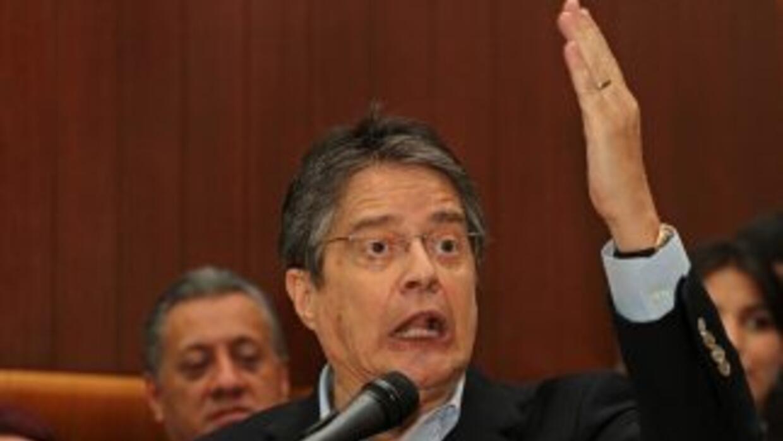 El candidato presidencial Guillermo Lasso