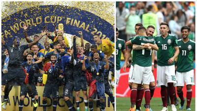 Francia es el nuevo rey del ranking FIFA; el Tri perdió una posición después del Mundial