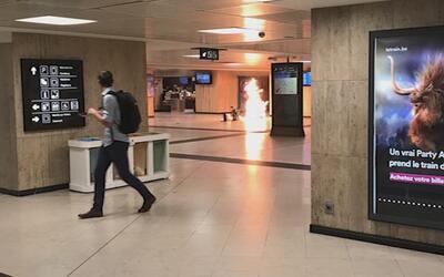 En video: Abaten a un sospechoso de detonar un explosivo en Bruselas