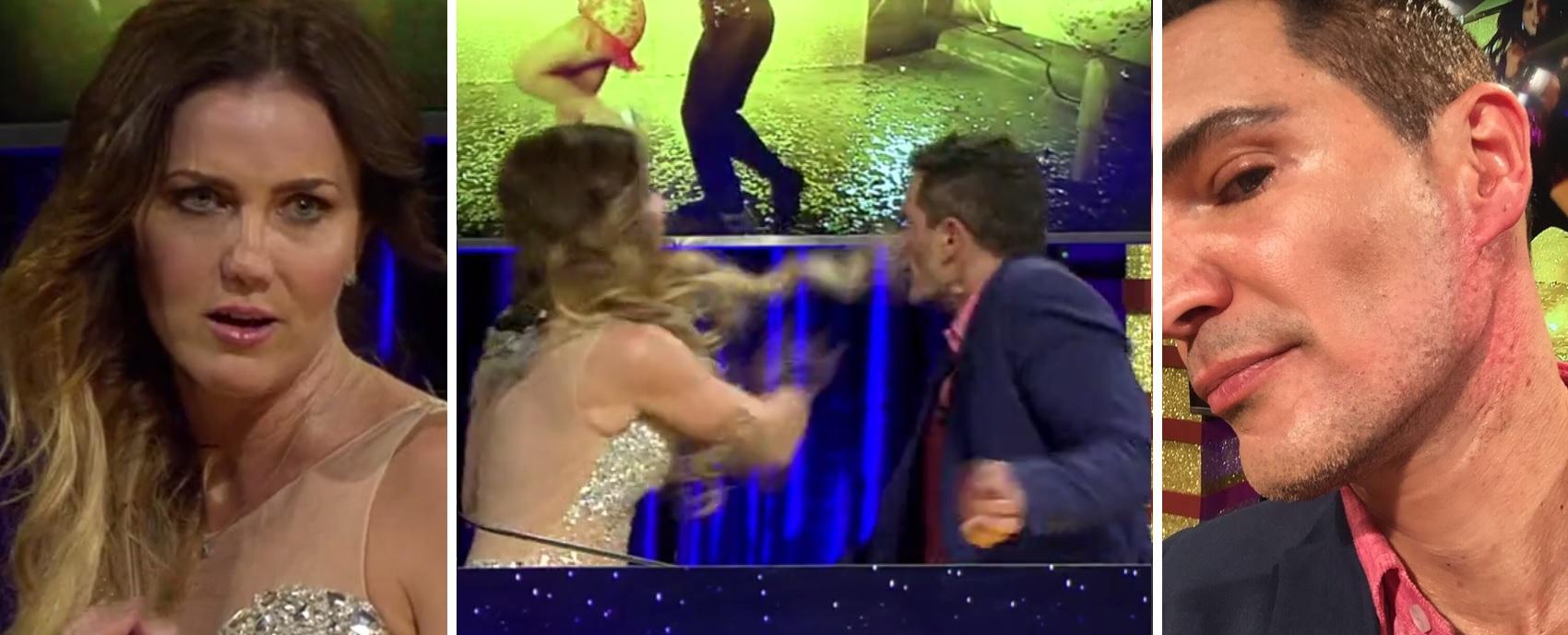 Golpean al actor Julio Camejo en la cara durante un reality show - Univision