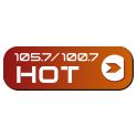 HOT 105.7 FM SAN FRANCISCO LOGO SOCIAL WIDGET